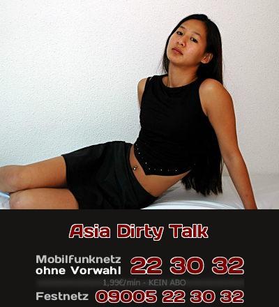 Dirty Talk mit einer Asiatin, das ist exotische Erotik am Telefon.