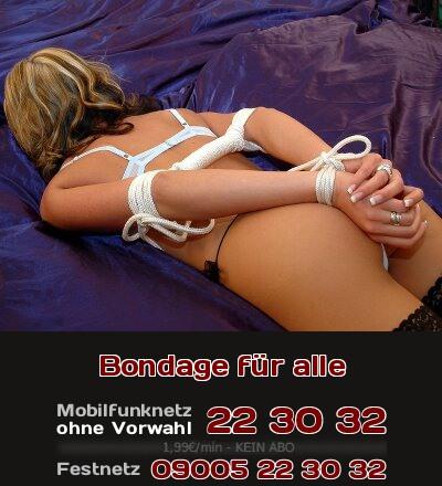 Gemäßigtes Bondage wird immer beliebter beim Telefonsex.