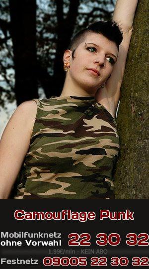 Sie ist Punk und steht auf Camouflage-Klamotten. Beim Telefonsex ist sie ganz schön ordinär.