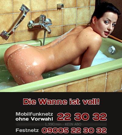 Viel Spaß beim Telefonsex mit der Fantsie, es in der Badewanne zu treiben!