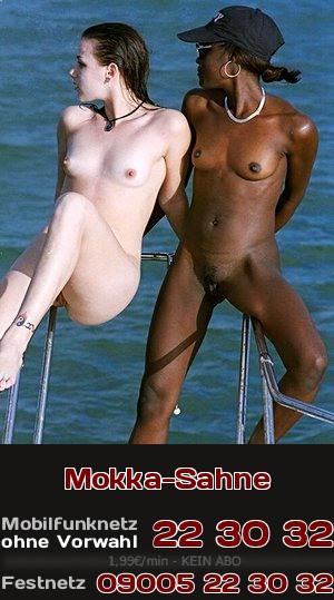 Erotische Fantasien über Sex zwischen schwarzen und weißen Frauen. Jetzt beim Telefonsex!