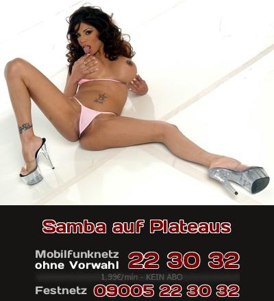 Willst Du rassige Latina auf Plateau-Schuhen beim Telefonsex erleben? Das ist Samba für Deine Lust!