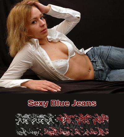 Richtig sexy in Blue Jeans für jeden, der auf festen Denim zwischen zarten Schenkeln beim Telefonsex steht