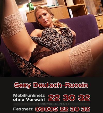 Telefonsex mit tabuloser Deutsch-Russin