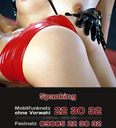 Spanking ist eine erotische Züchtigung, zur sexuellen Stimulation durch Arsch verhauen