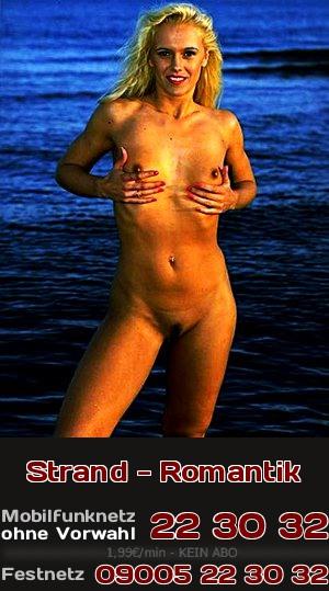 Romantische und erotische Momente am Strand kann man gut beim Telefonsex austauschen