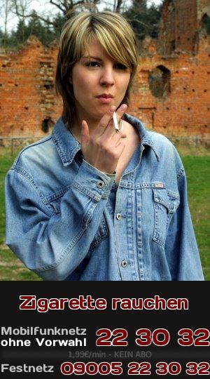 Eine Zigarette zu rauchen ist ein Genuss und unter Rauchern gehört zur Entspannung auch das Rauchen einer Zigarette. Telefonsex und Rauchen gehören auf jeden Fall zusammen.