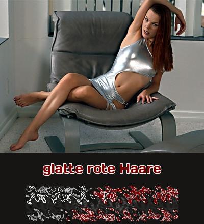 Ein Luder mit glatten roten Haaren ist ganz heiß beim Telefonsex.