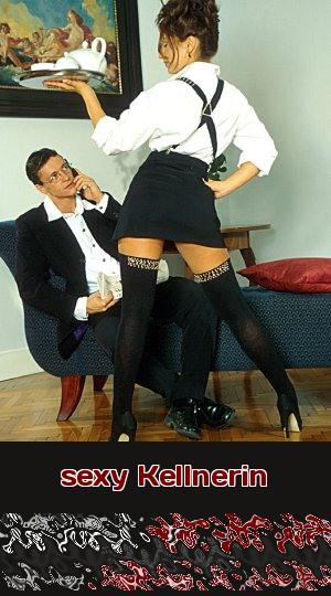 """Eine sexy Kellnerin bedient Dich von vorn bis hinten und nicht nur """"à la carte"""", wenn Du beim Telefonsex respektvoll mit der Bedienung umgehst."""
